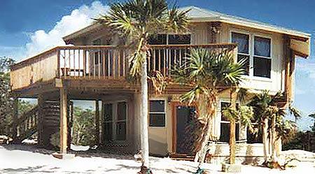 Topsider Homes prefab two-story house built on Great Exuma Island, BAHAMAS