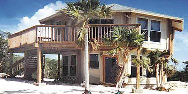 Topsider Homes prefab two-story house built on Great Exuma Island, BAHAMAS