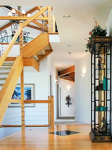 Contemporary Homes Interior Design Grand Foyer & Stairway