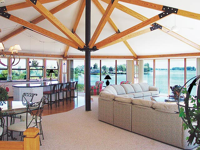 Contemporary U0026 Modern Post U0026 Beam Structure Home Interior Design
