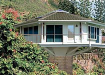 Octagonal Mountainside Pedestal Home