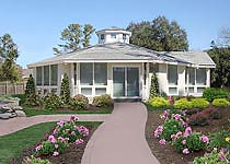 Octagon Patio Home by Topsider Homes