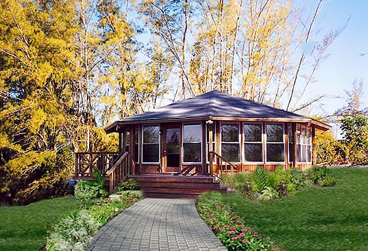 "Topsider's prefab patio house designs make perfect guest houses and home additions for ""granny flats"" and ""in-law"" suites."