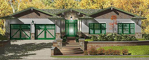 Unique Craftsman Style Homes with Vaulted Ceilings by Topsider