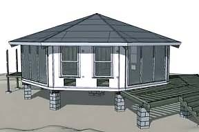 "Topsider prefab home ""weather tight"" shell assembly photo"