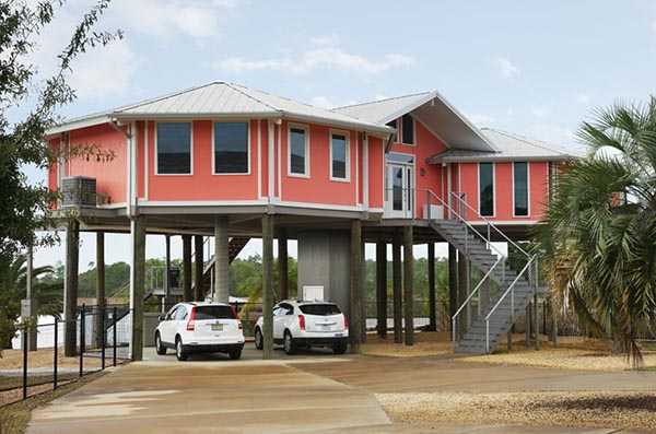 Topsider homes custom designed pre engineered homes album 6 for Beach house construction cost