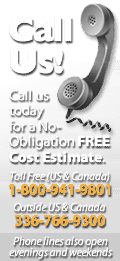 Contact Us today for a No-Obligation FREE Cost Estimate