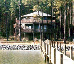 Stilt home on the Chesapeake Bay Limarnock, Virginia