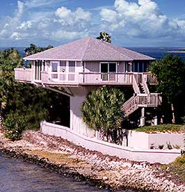pedestal design elevated 20 ft gulf coast island hernando florida - Hurricane Proof Homes Design
