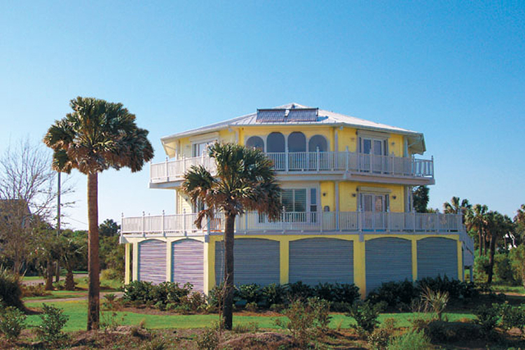 Bon Two Story Luxury Stilt Home Design Built Oceanfront With Ground Level  Breakaway Walls. Coastal