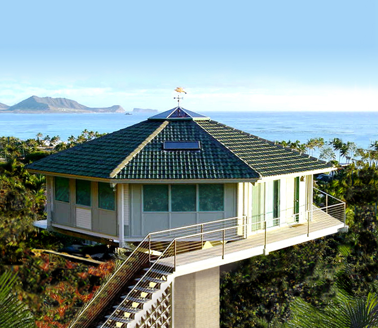 Tropical Coastal Pedestal Home Kaiaii, Hawaii