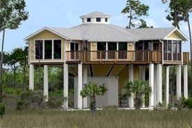 Elevated hurricane home concept ideal for rebuilding after Hurricane Sandy