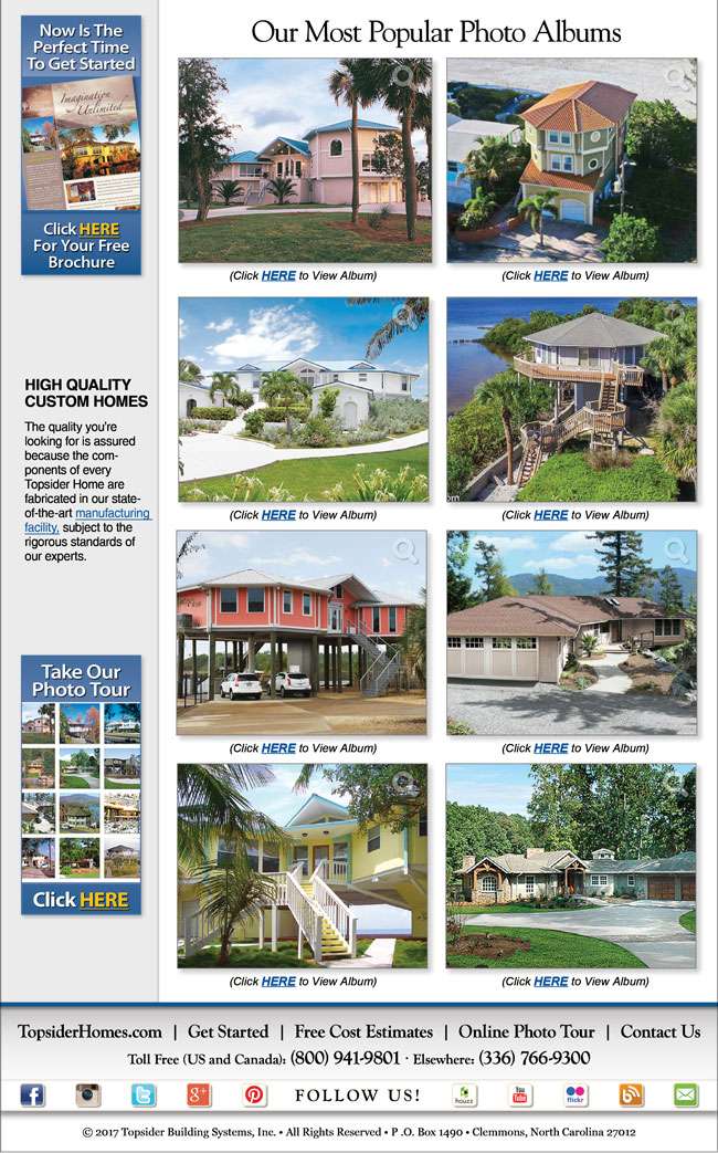 Topsider Homes eNewsletter
