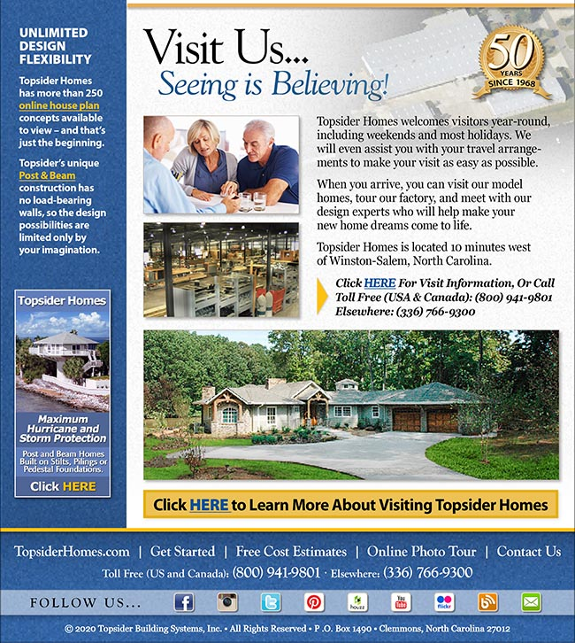 Topsider Homes eNewsletter